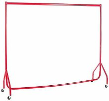 ace of space Garment Rail RED 5ft Heavy Duty