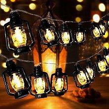 AceList 30 LED Black Lantern String Lights Mini