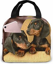 achshund Puppy Dog Lunch Bag Cooler Bag Women Tote