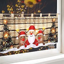 ACMHNC Christmas Curtain Short Kitchen Cafe