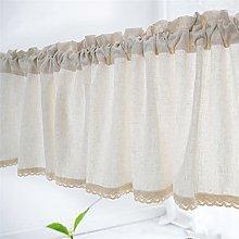 ACMHNC Cotton Linen Café Curtain Valance Kitchen