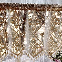 ACMHNC Embroidery Hollow Crochet Lace Valance