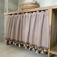 ACMHNC Small Valance Sheer Kitchen Curtain, Semi