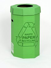 Acorn Green Bin for Recycling Waste Capacity 60