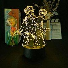 Acrylic 3D Night Light Anime Banana Fish Lamp