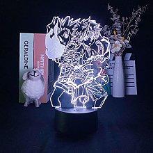 Acrylic 3D Night Light Anime Hunter LED Illusion