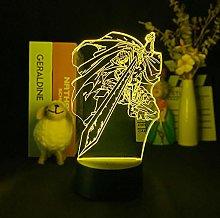 Acrylic Anime 3D Night Light USB Battery Touch