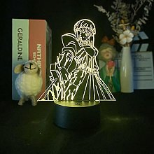 Acrylic Anime Night Light USB Battery Touch Remote