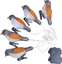 Acrylic Bird Lamp String Waterproof Battery Box