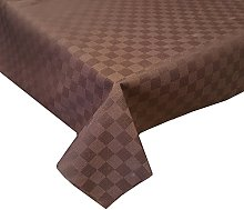 Acrylic Coated Tablecloth Damina Brown 1.5 Metres