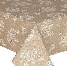 Acrylic Coated Tablecloth Elephants 1 Metre (100cm