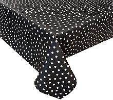 Acrylic Coated Tablecloth Fantasy Dot Black 1