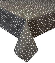Acrylic Coated Tablecloth Fantasy Dot Slate 3.5
