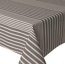 Acrylic Coated Tablecloth Grey Bands 2.5 Metres