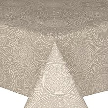 Acrylic Coated Tablecloth Grey Spiro 2.5 Metres