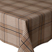 Acrylic Coated Tablecloth Harbour Check Blue 1.5