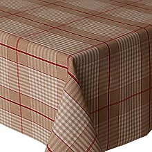 Acrylic Coated Tablecloth Harbour Check Red 2