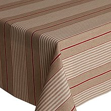 Acrylic Coated Tablecloth Harbour Stripe Red 2
