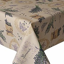 Acrylic Coated Tablecloth Lavender 2 Metres (200cm