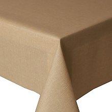 Acrylic Coated Tablecloth Plain Beige 3 Metres
