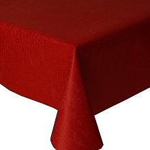 Acrylic Coated Tablecloth Rock Red 2 Metres (200cm