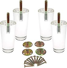 Acrylic Furniture Legs Pack of 4 Clear Feet Shape