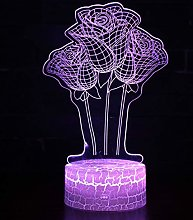 Acrylic Night Light Couple Love Birthday
