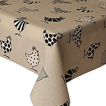 Acrylic Tablecloth Two Tone Chickens 2.5 Metres