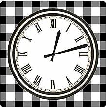Acrylic wall clock Digital Minimalist Black and