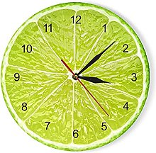 Acrylic wall clock Digital Orange Lemon Fruits
