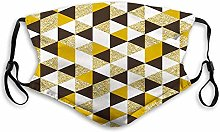 Activated Windproof Face Scarf,Geometric,Triangles