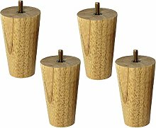 ACUIPP 4 Pcs Height Sofa Legs,Wooden Replacement