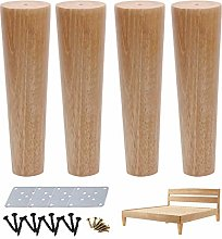 ACUIPP 4 Pcs Wooden Niture Legs,Wood Straight Cone