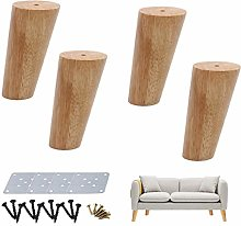 ACUIPP 4 Pieces Wooden Niture Legs,Replacement