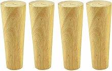 ACUIPP 4 Wooden Niture Legs,Straight Cone Sofa