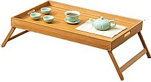 ACUIPP Folding Bamboo Table,Bedroom Side Table