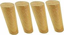 ACUIPP Set of 4 Wooden Niture Legs,Oblique Cone