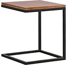 ACUIPP Sofa Side Table,Wood & Metal Table Corner