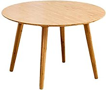 ACUIPP Thickened Round Table Bamboo,60Cm/70Cm