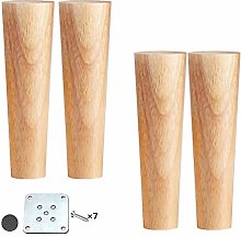 ACUIPP Wood Color Tapered Reliable Sofa Legs,4Pcs