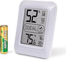 ACURITE Digital Hygrometer & Thermometer, White