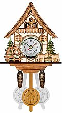 ACWERT Black Forest Cuckoo Chalet Wall Clock With
