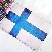 ACYKM 3D printed door mat New Finland Flag Finland