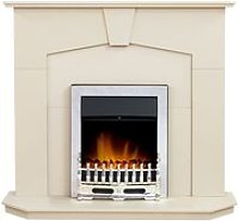 Adam Abbey Fireplace in Stone Effect with Blenheim