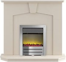 Adam Abbey Fireplace Suite in Stone Effect with