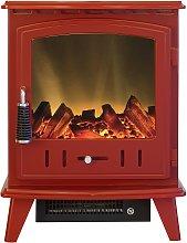 Adam Aviemore 1.8kW Electric Stove - Red