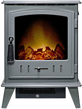Adam Aviemore Grey Electric Stove - 21605
