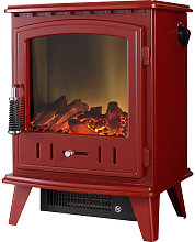 Adam Aviemore Red Electric Stove - 10325