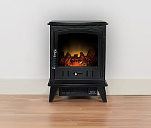 Adam Aviemore Textured Black Electric Stove - 15787