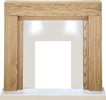 Adam Beaumont Fireplace in Oak and Cream with